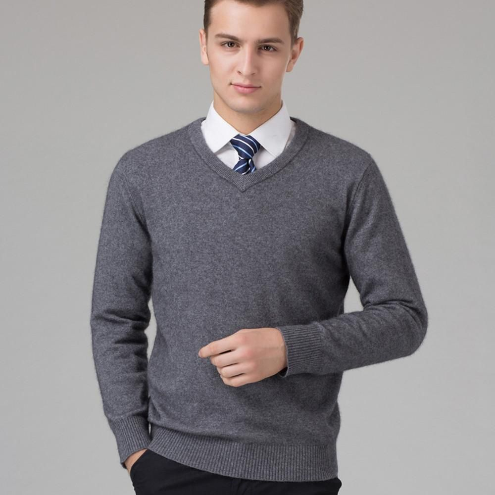 Sweater Man 100% Pure Cashmere Knitted Winter Warm Pullovers