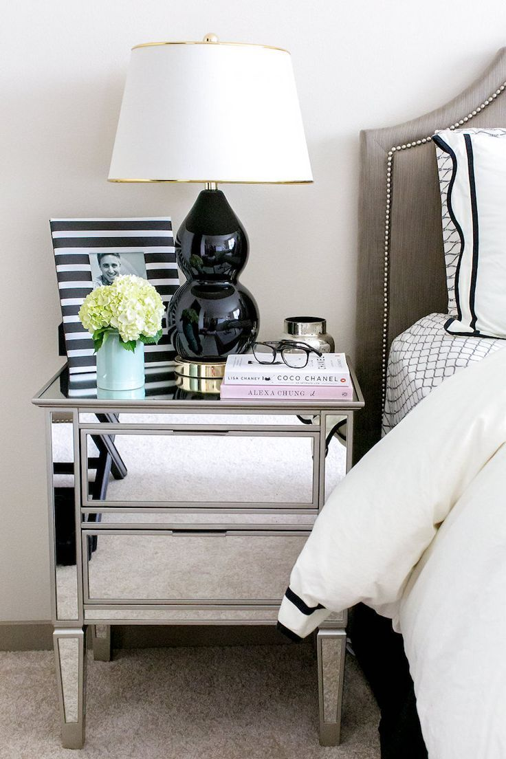 Best 16 Gorgeous Mirrored Nightstands For A Glamorous Bedroom 640 x 480