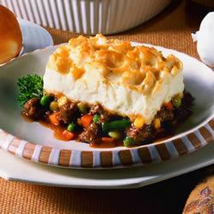 Sausage Shepherds Pie Recipe Main Dishes With Rolls Beef Gravy Frozen Mixed Vegetables
