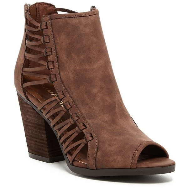 eaeb44010a98 Rampage Viva Open Toe Woven Bootie ( 45) ❤ liked on Polyvore featuring  shoes