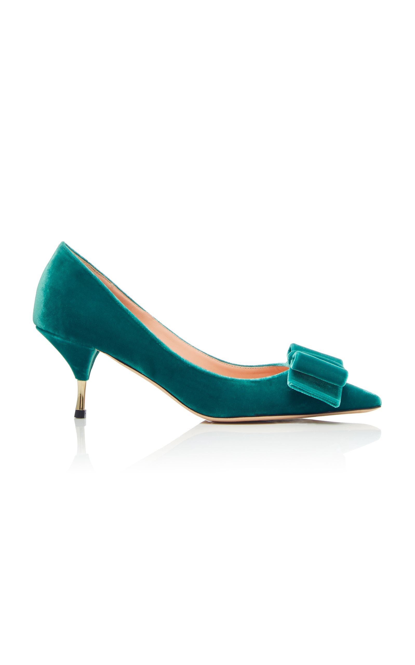af42ccef3c ROCHAS VELVET KITTEN HEEL PUMP WITH BOW. #rochas #shoes # | Rochas ...