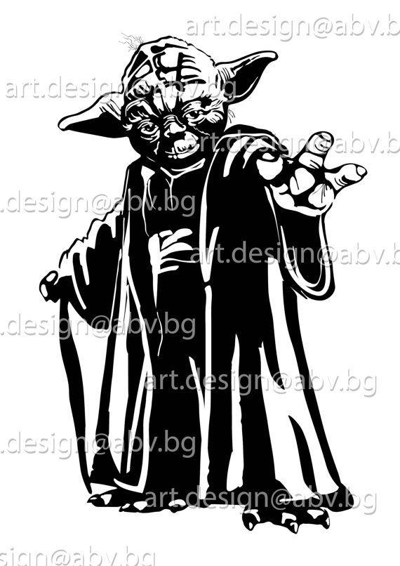 vector yoda star wars svg ai png eps dxf pdf jpg download rh pinterest ca vector hd free yoda vector silhouette