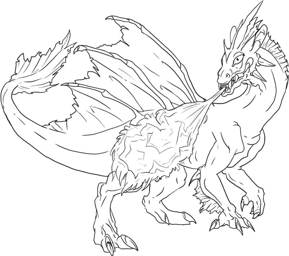 Coloring pictures dragons - Dragon Coloring Pages Online