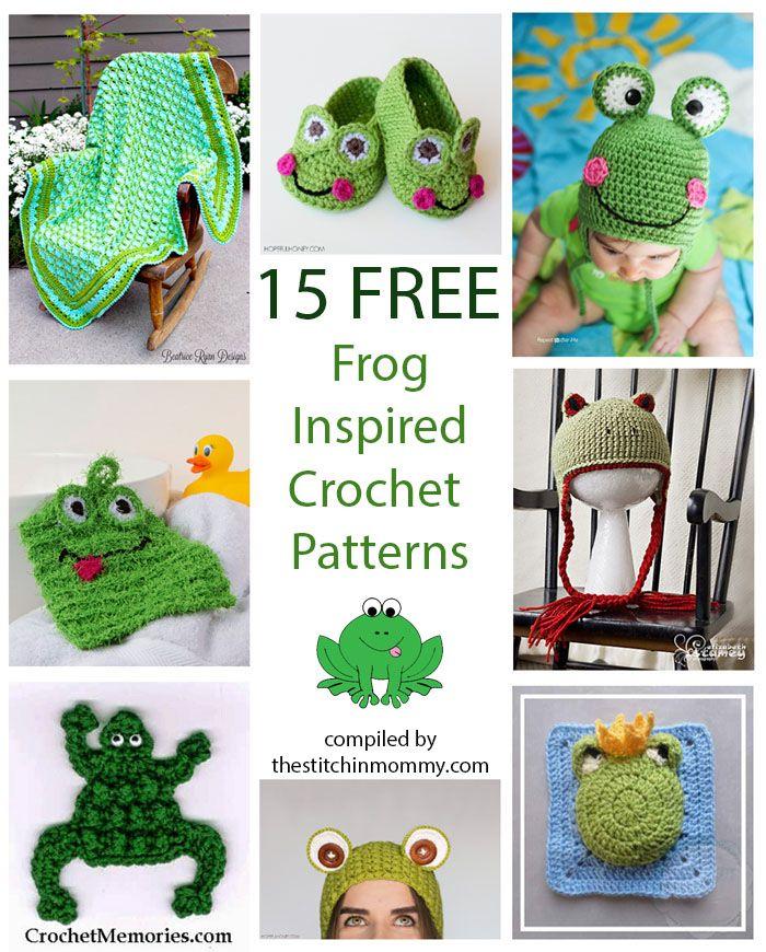 15 Free Frog-Inspired Crochet Patterns   Corazones de ganchillo ...