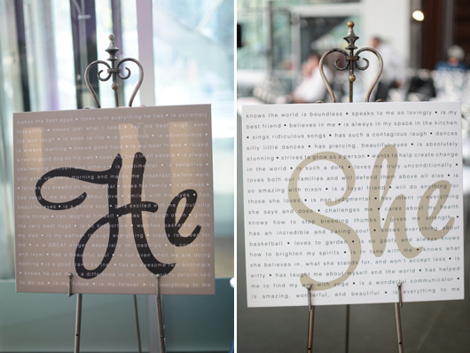 Display the things you love about your partner at the #reception! #DIY