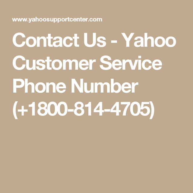 Contact Us Yahoo Customer Service Phone Number (+1800