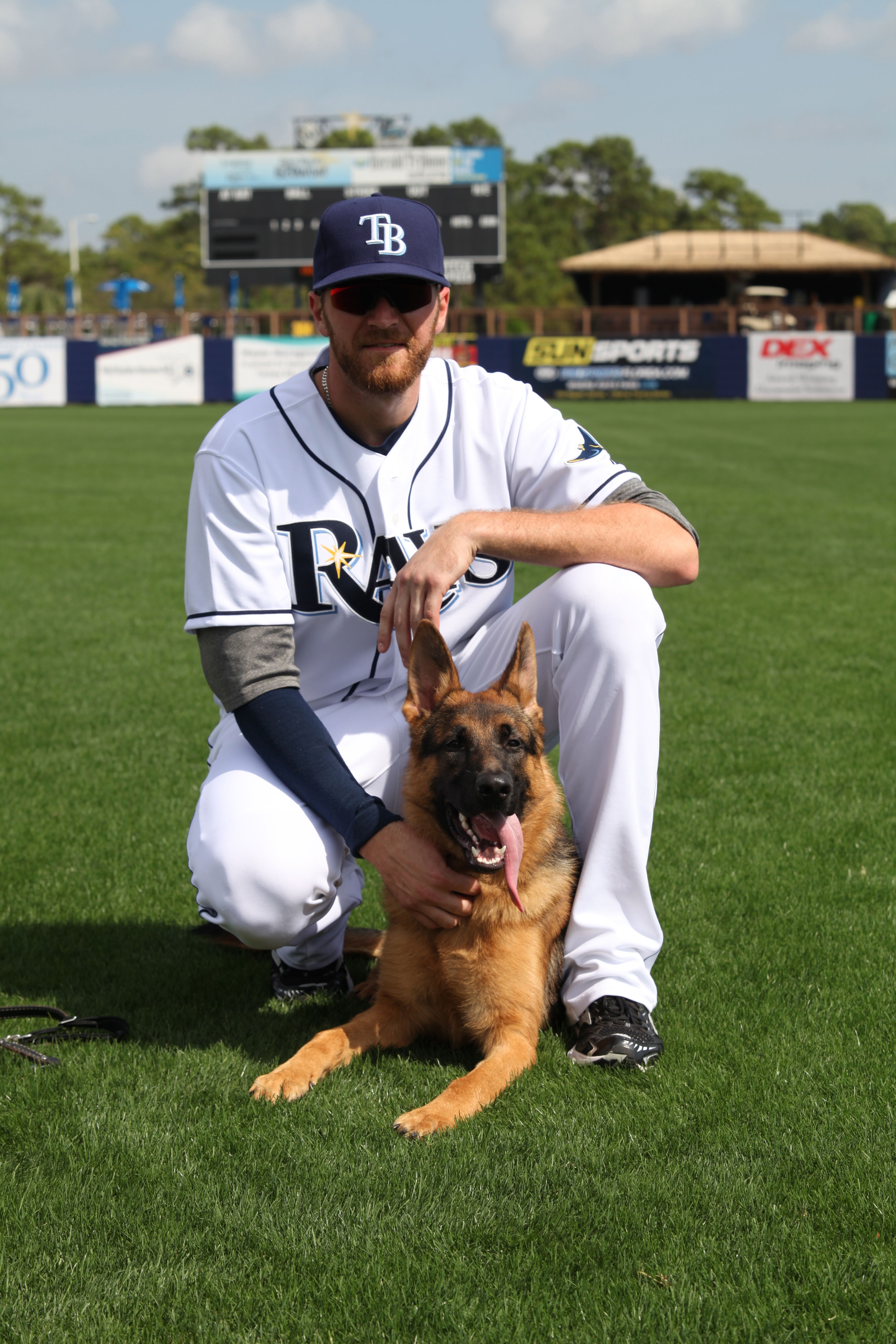 The Rays' first 'Players and Pooches' calendar goes on