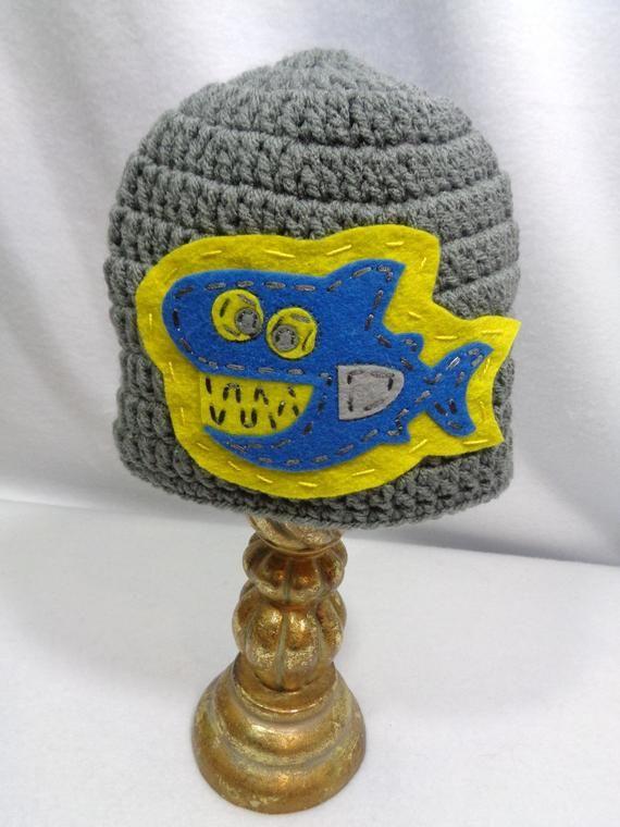 1b0d291eddb Gray Shark Hat