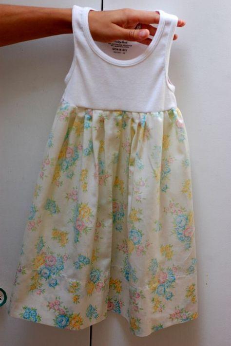 Pillow case tank top dress | refashion | Pinterest