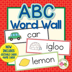 word wall cards abc headers for preschool kindergarten on word wall id=35074