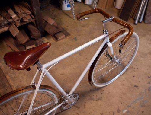 c4d3353a926 white #bike, Brooks saddle, wooden fenders -- please | GO | Urban ...