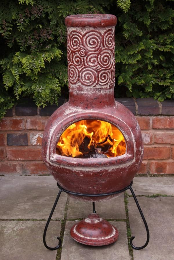 Large Or Xl Spiral Mexican Clay Chimenea Fire Pit Fire Pit Essentials Outdoor Fire Pit