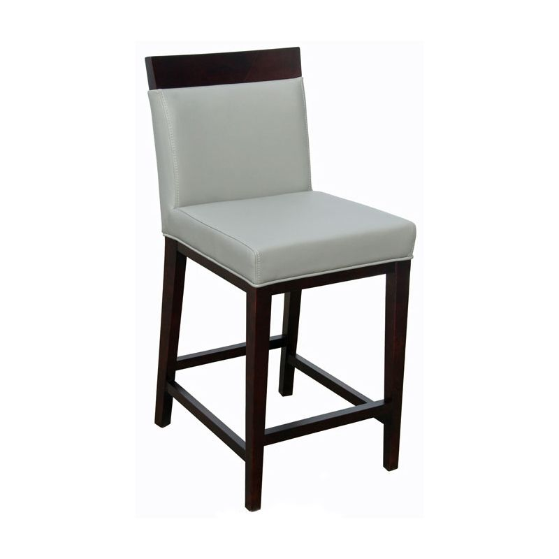 Restaurant Chairs, Stools U0026 Booths :: Grey Top Grain Leather Counter Stool  R