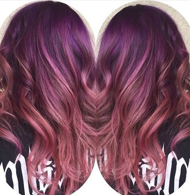 Purple and Rodney pink color melt Vivid purple By @danischmidtstylist