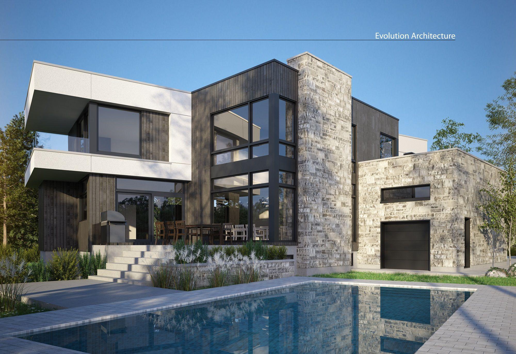 Architecture#maison #contemporaine #création exclusive E-951 ...