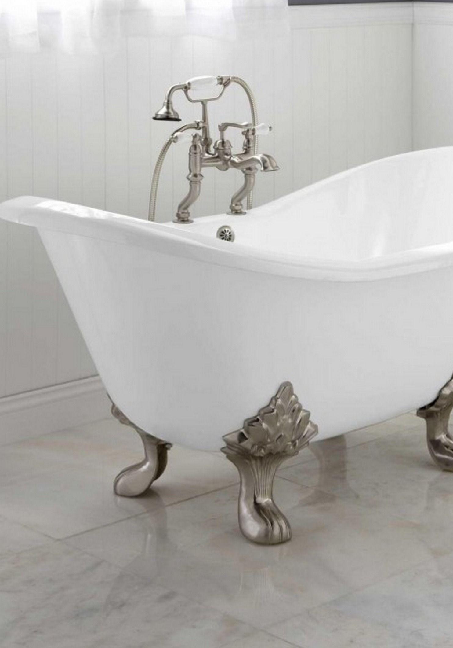 Arabella Cast Iron Double-Slipper Tub | Tubs, Master bathrooms and Iron