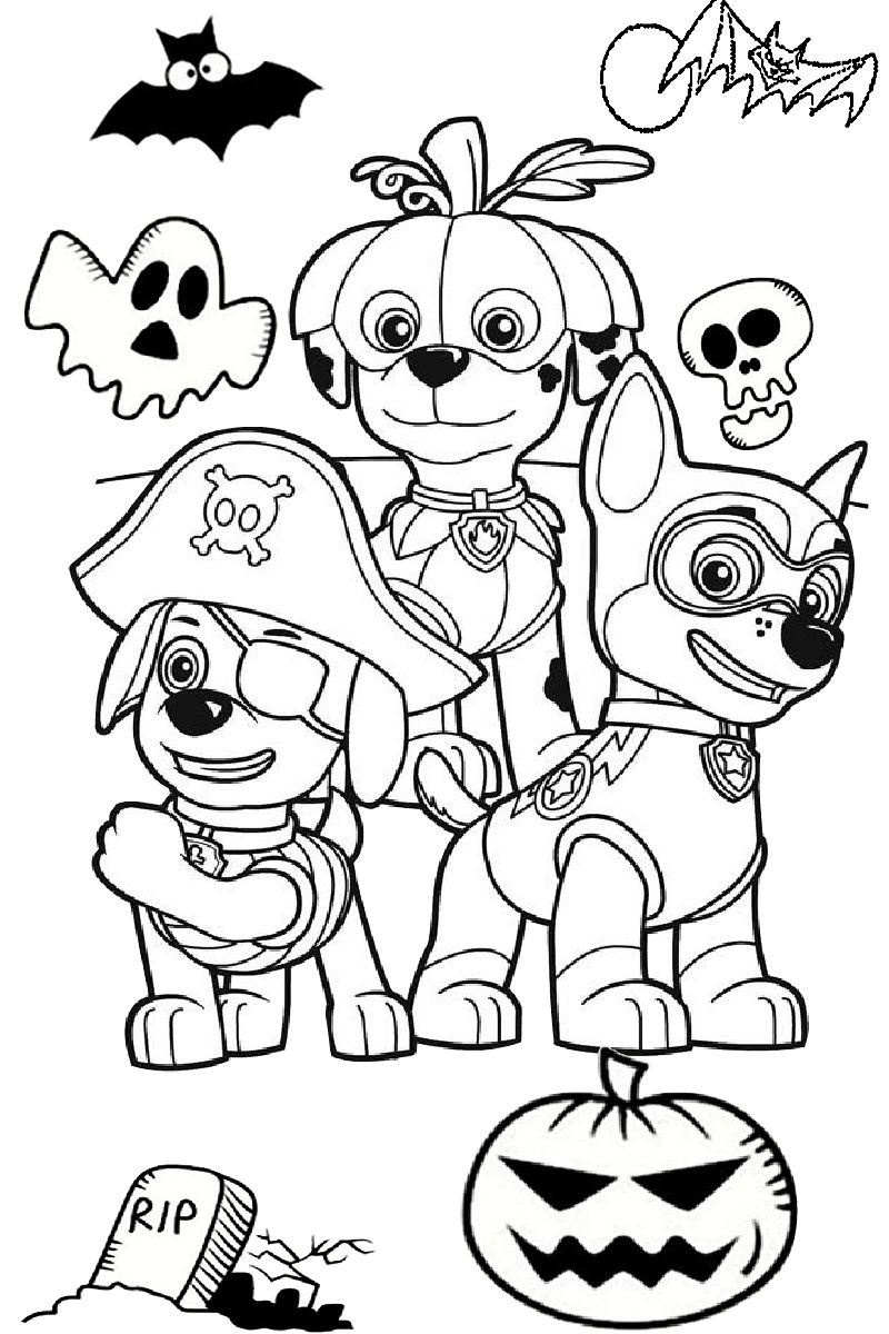 Paw Patrol Halloween Coloring Pages Best Coloring Pages For Kids Paw Patrol Coloring Pages Paw Patrol Coloring Halloween Coloring Pages