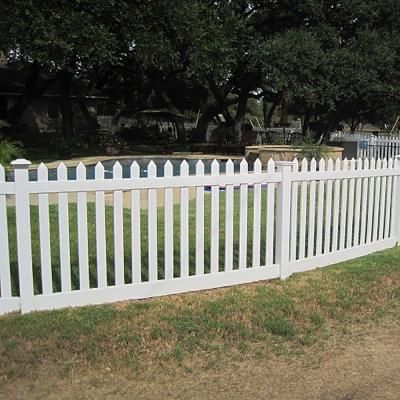 Weatherables Spokane 4 Ft X 8 Ft White Vinyl Picket Fence Panel