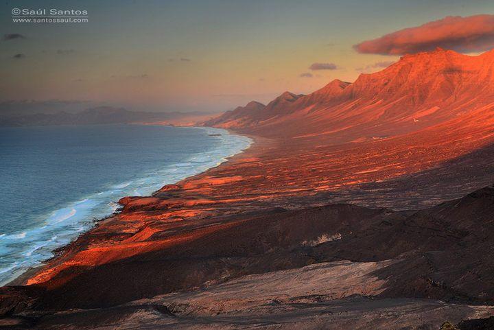 Cofete Al Atardecer Isla De Fuerteventura Canarias Isla De