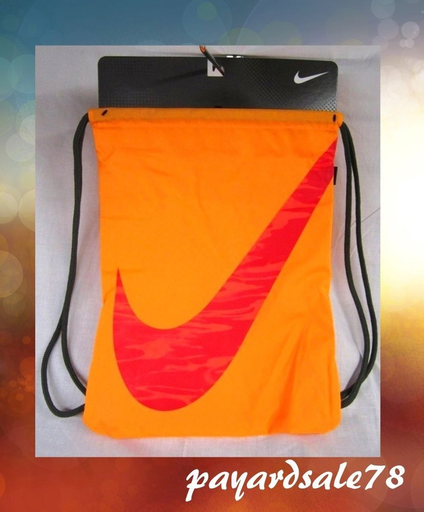 NIKE GYM SACK BACK PACK SPORTS BOOK BAG STRING BACKPACK NEW #Nike ...