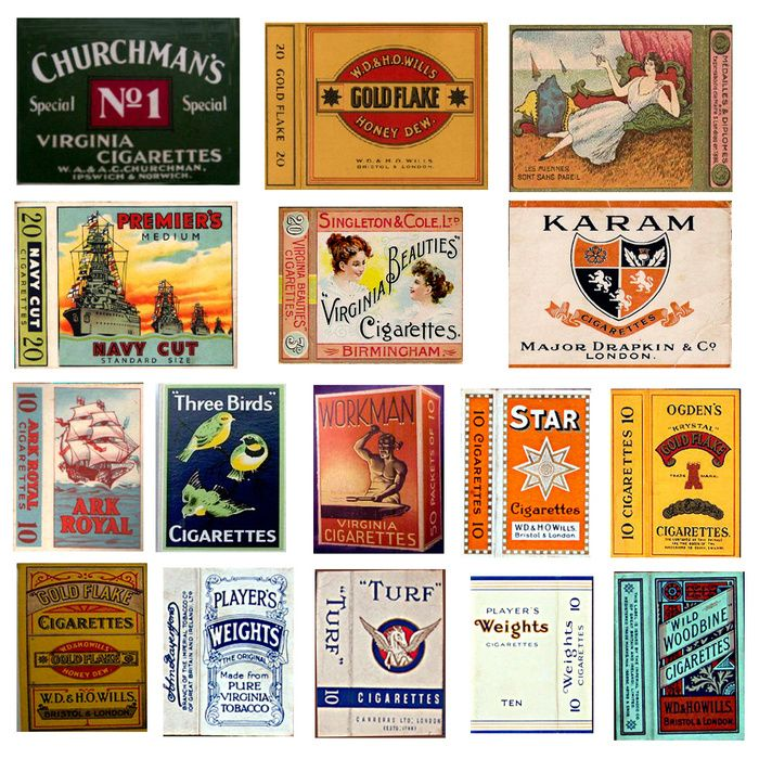 Old Cigarette Packets Vintage cigarette ads