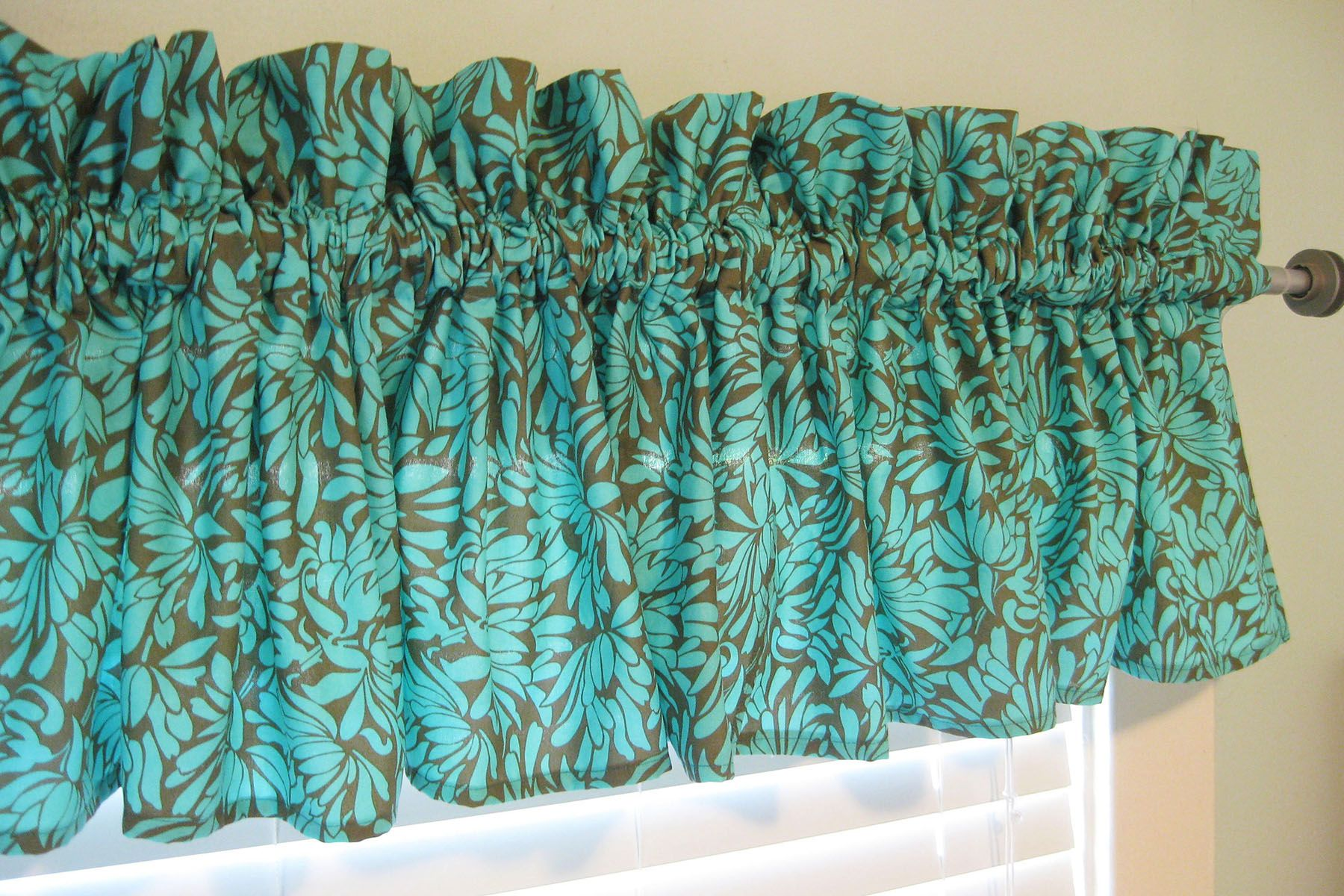 How To Make Ruffled Valance Curtains