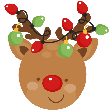 Free christmas cute. Reindeer svg scrapbook cut