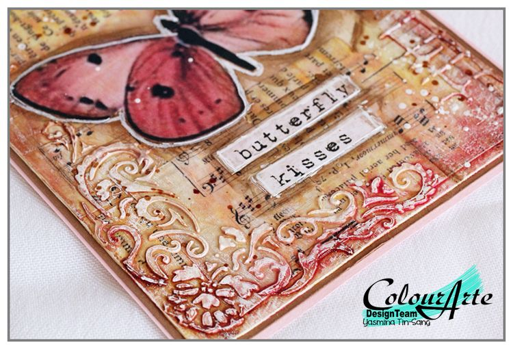Textured card by Yasmina with Vivid