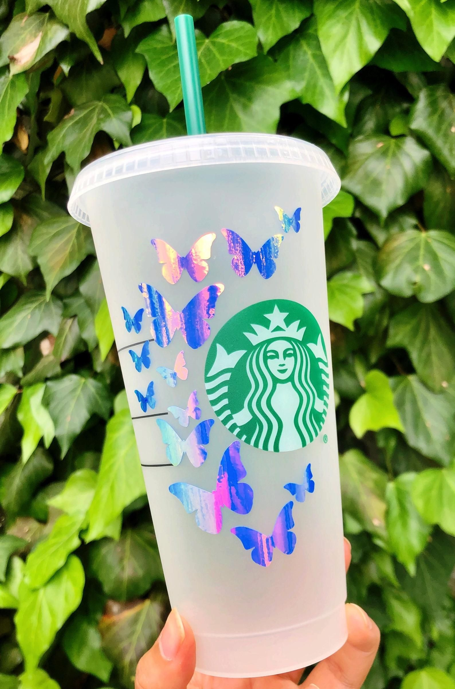 Butterfly Venti Starbucks Cold Cup