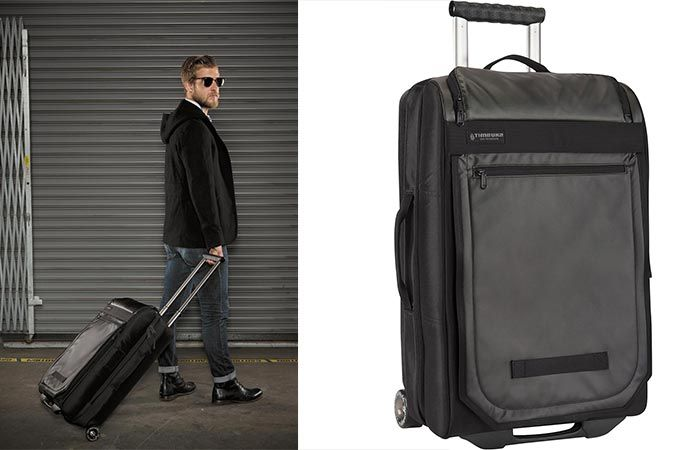 d59a2ee7e1 Mark Cross Grained-leather suitcase Womens Black Bags Travel-bags
