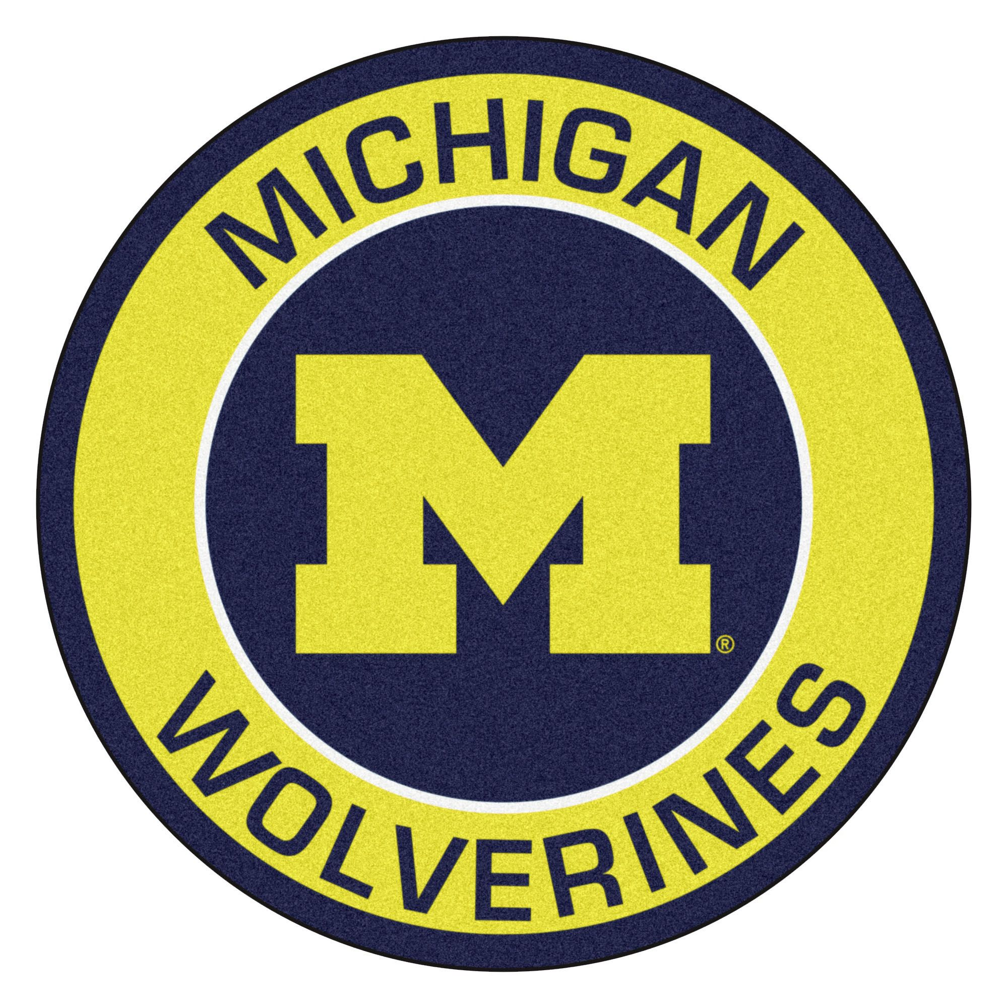 NCAA University of Michigan Wolverines Rounded NonSkid