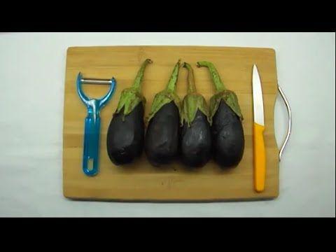 طريقة قلي الباذنجان بدون شرب وامتصاص الزيت Eggplant Food Videos Vegetables