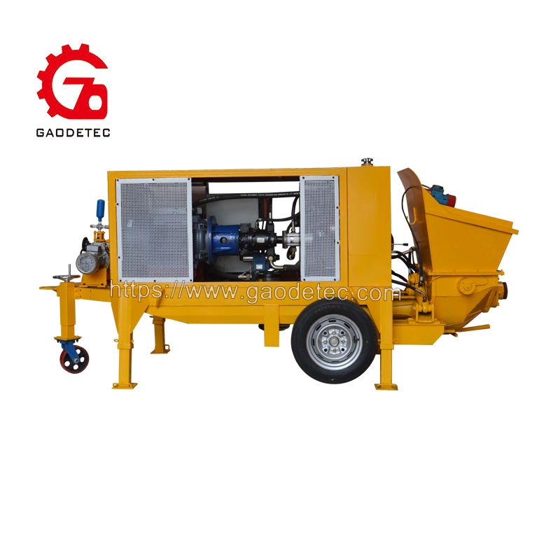 Wps 7a Wet Gunite Machine Use Hydraulic Pumping S Valve Structure Two Oil Cylinders Reciprocating Motion Alternately To Pump Co Compressed Air Machine Toy Car