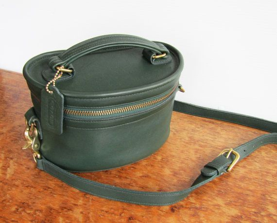 d5b08d080 Reserved for Nesta - Vintage COACH • Green Leather Trail Bag • Train ...