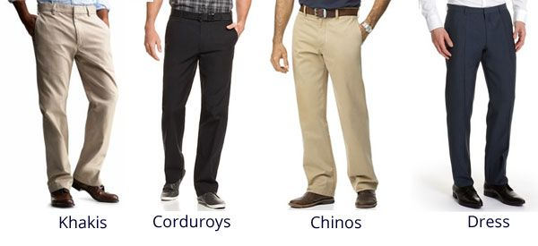 Cocktail dress pants vs chinos
