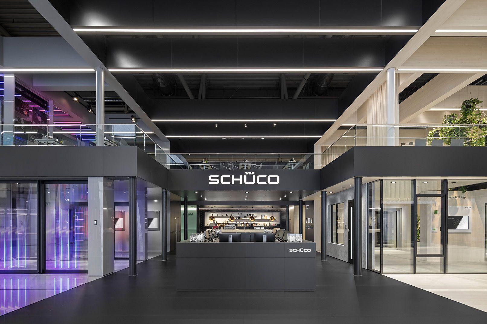 Schuco Bau 2019 By Dart Design Gruppe Bau Lichtinstallation Messe Fotografie