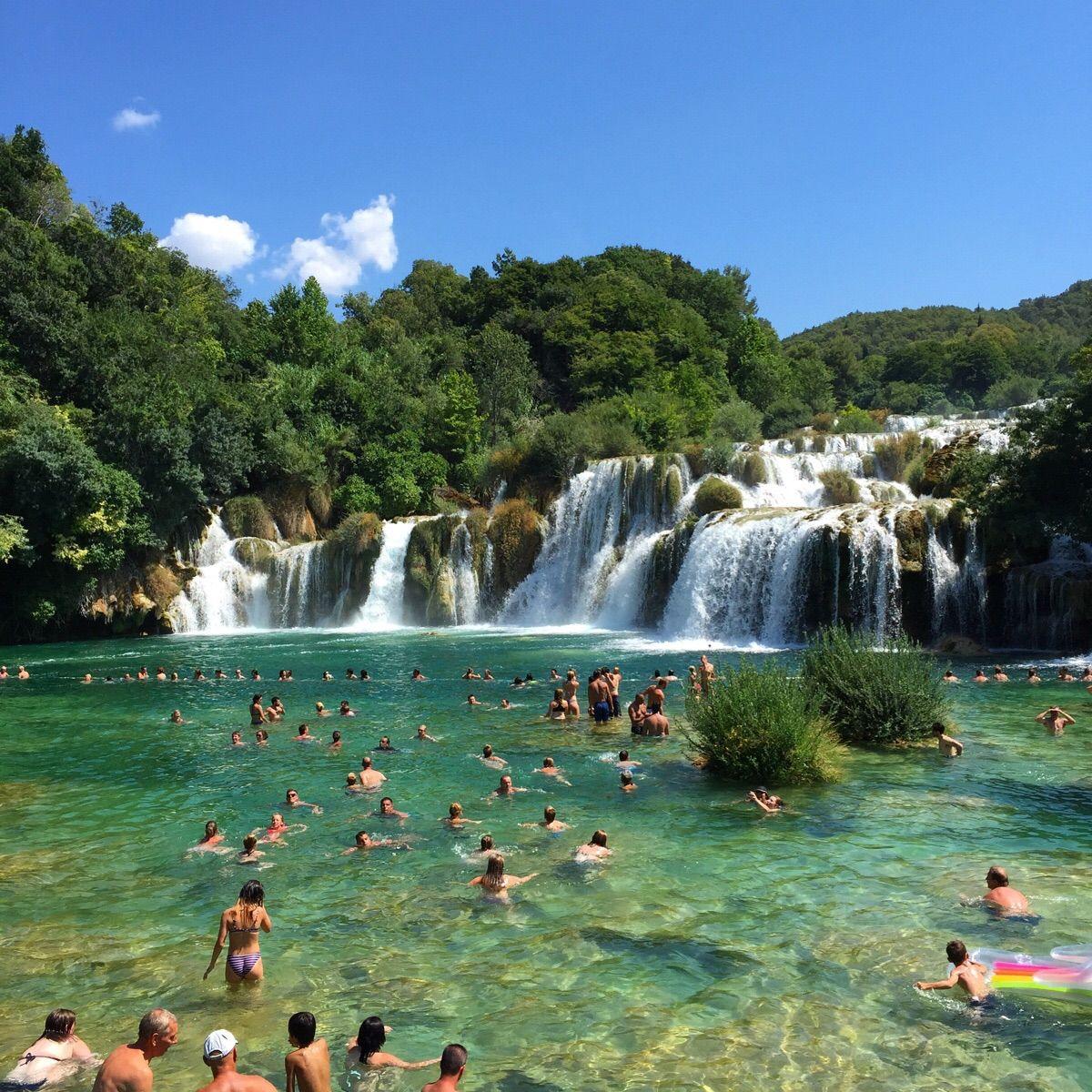Krka national park in Croatia was breathtaking