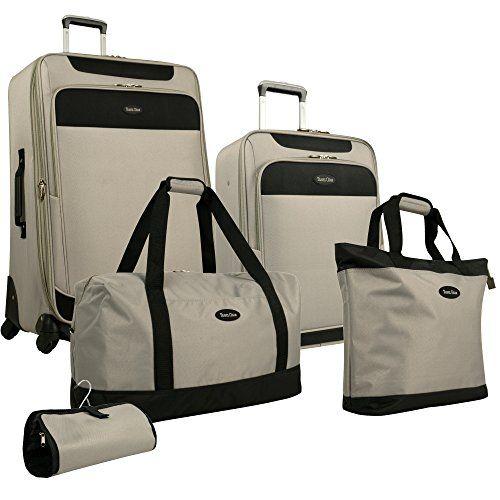 Travel Gear Star Bright 5 Piece Luggage Set, Wild Dove/Black, One ...