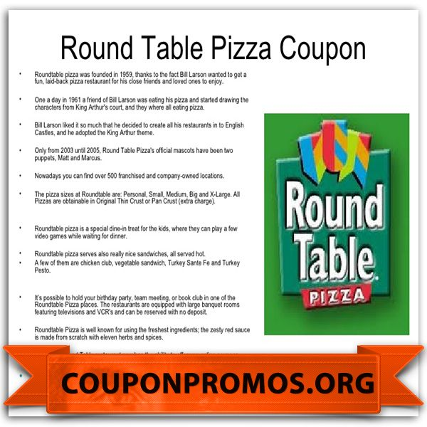 Printable Coupon For Round Table November December