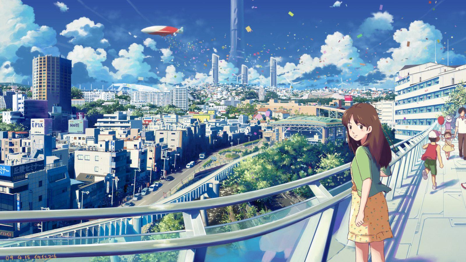 Anime City Scenery Wallpaper Drawing アニメの風景 風景の壁紙