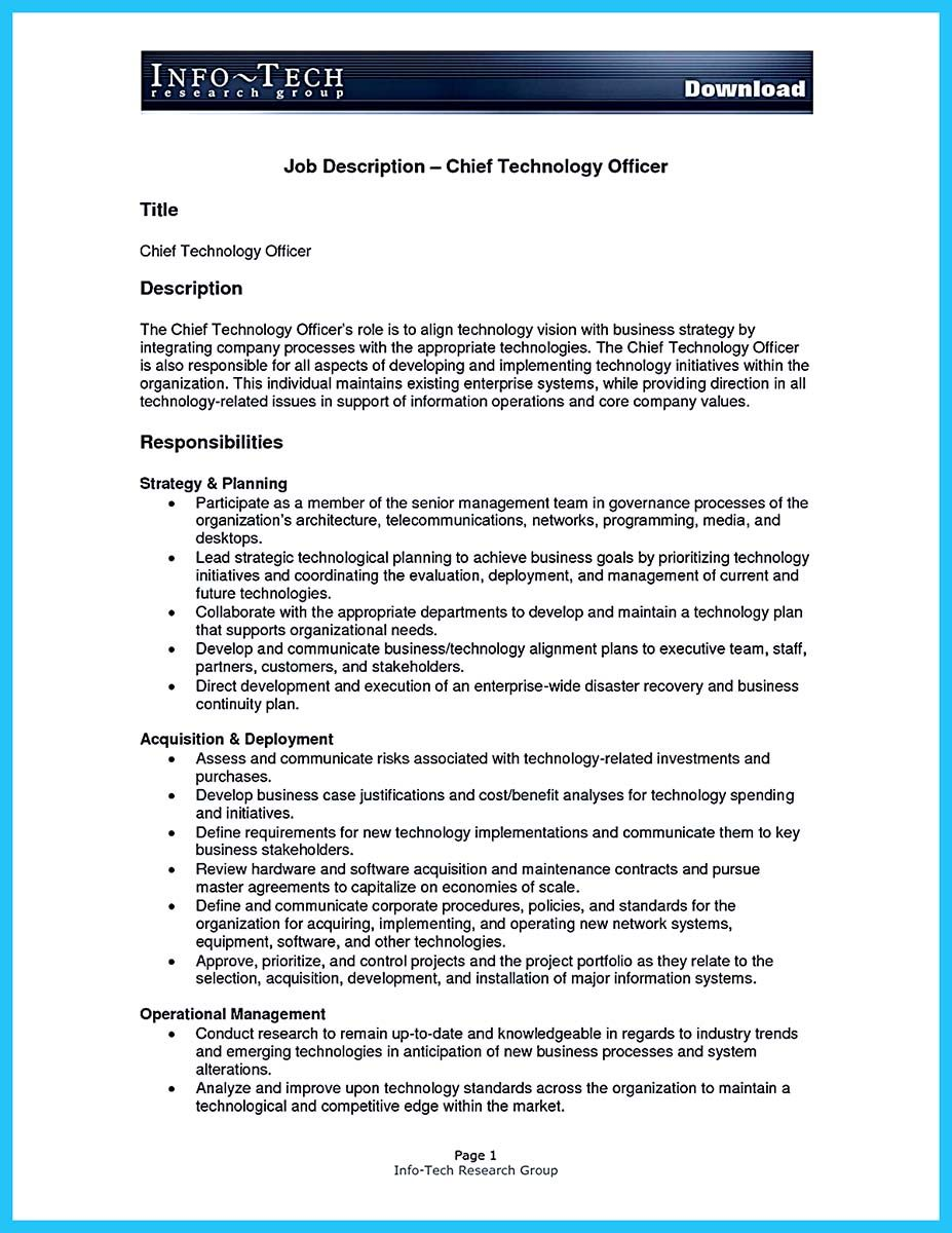 Outstanding CTO Resume for Professionals (avec images