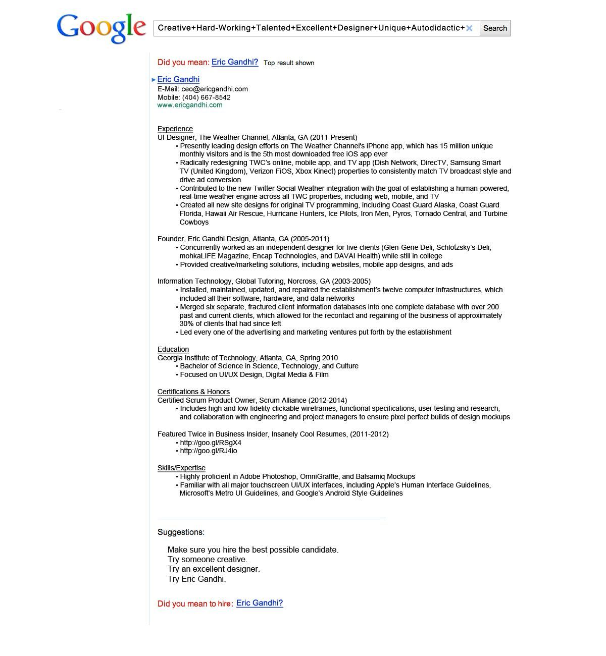 Google Resume by Eric Gandhi #Creative Resume | "|1200|1300|?|04796f41d6ea81de9ac365c832acabe4|False|UNLIKELY|0.36226823925971985