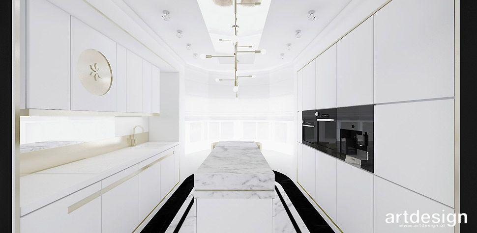 High Life Biało Złota Kuchnia Domy Houses Bathtub