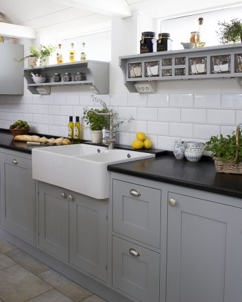 Really Like This Old Style Kitchenthe Grey Cupboard Doors - Grey kitchen cupboard doors