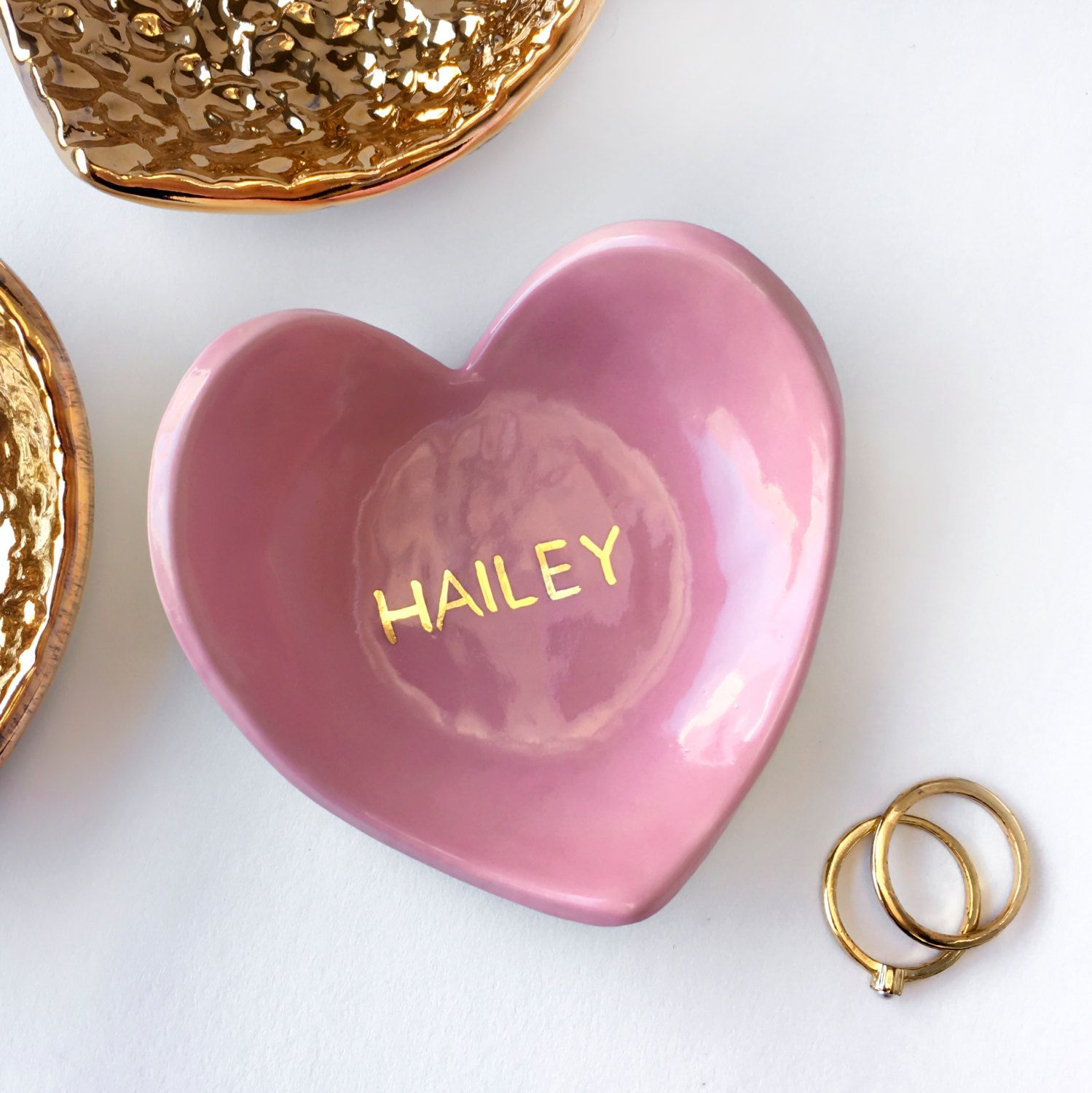 Modern Mud: Ring Dish - Pink and Gold | Wedding Decor | Pinterest ...