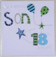 Handmade son 18th birthday card cards pinterest products handmade son 18th birthday card bookmarktalkfo Choice Image