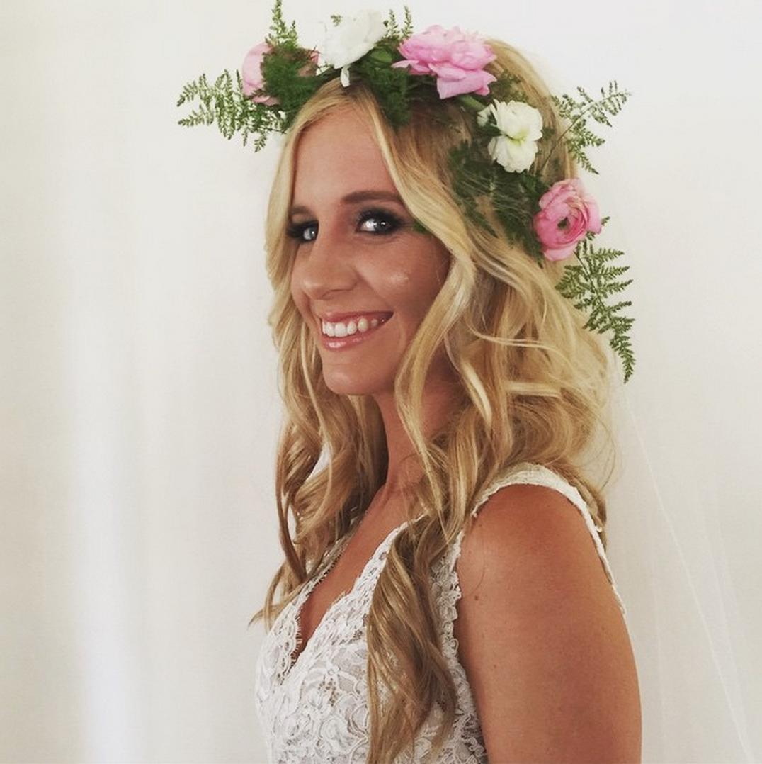Wedding Entourage Hairstyle: Flower Child. #mobilebridalsalon #makeup #myteam #mybride