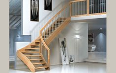 Scale a giorno, scale per interni, scale di legno massiccio, scale ...