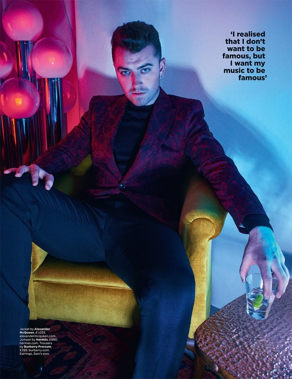 dc5760ca102a14 After great weight loss, Sam Smith cuts a sharp figure in the October 2015  issue of British GQ. The magazine's Solo Artist of the Year, Smith hits the  stud