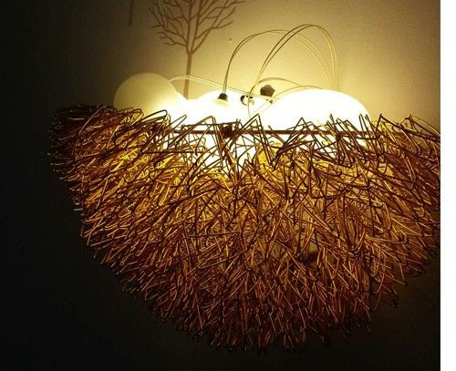 bird nest led wall lamp